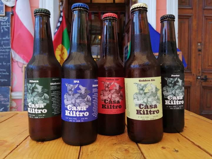 Cervezas artesanales Casa Kiltro